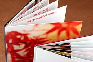 Hardcover menus