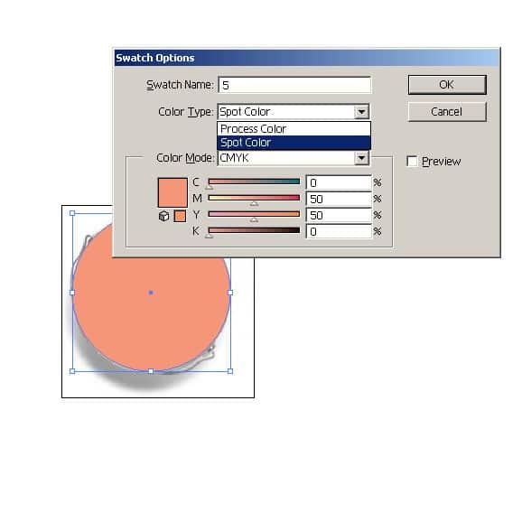 """Оцветете обекта/обектите със spot цвят с име """"5″. Алтернативен вариант е да го оцветите в неизползван в проекта ви цвят по CMYK, като уточните изрично, че той трябва да бъде заменен с бяло. В случай, че използвате бяло с различна наситеност, задайте запълването на обекта като процент от цвета, в никакъв случай не го правете прозрачен. Избягвайте употребата на градиенти до 0% растер."""
