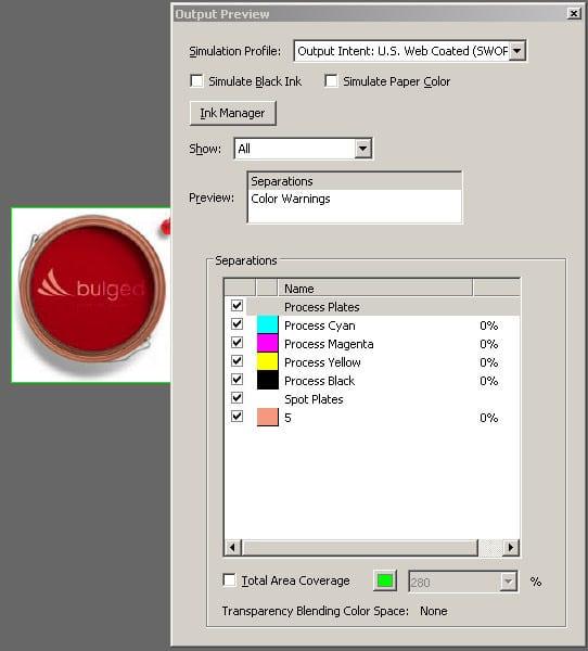 Отворете файла в Acrobat и го проверете с Output Preview. Уверете се, че бялото е върху другите обекти и че е overprint.