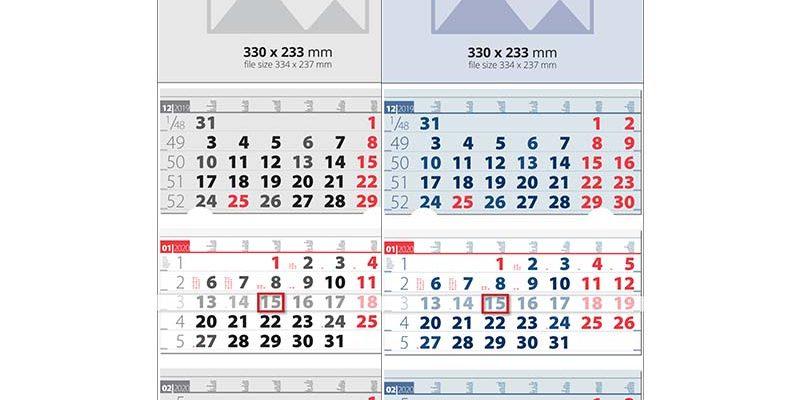 Стенни работни календари Елит за 2020