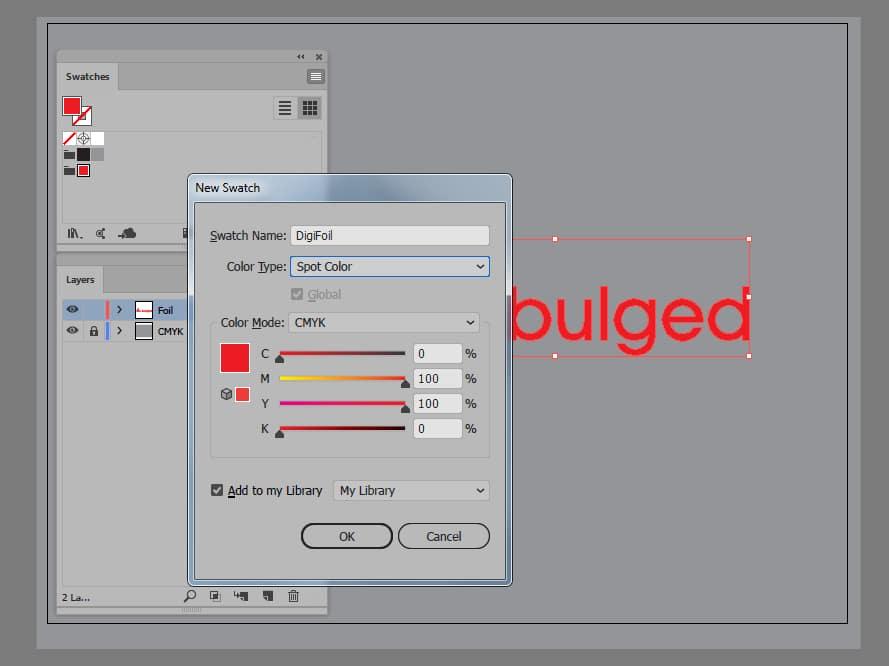 Дигитално фолиране от Булгед